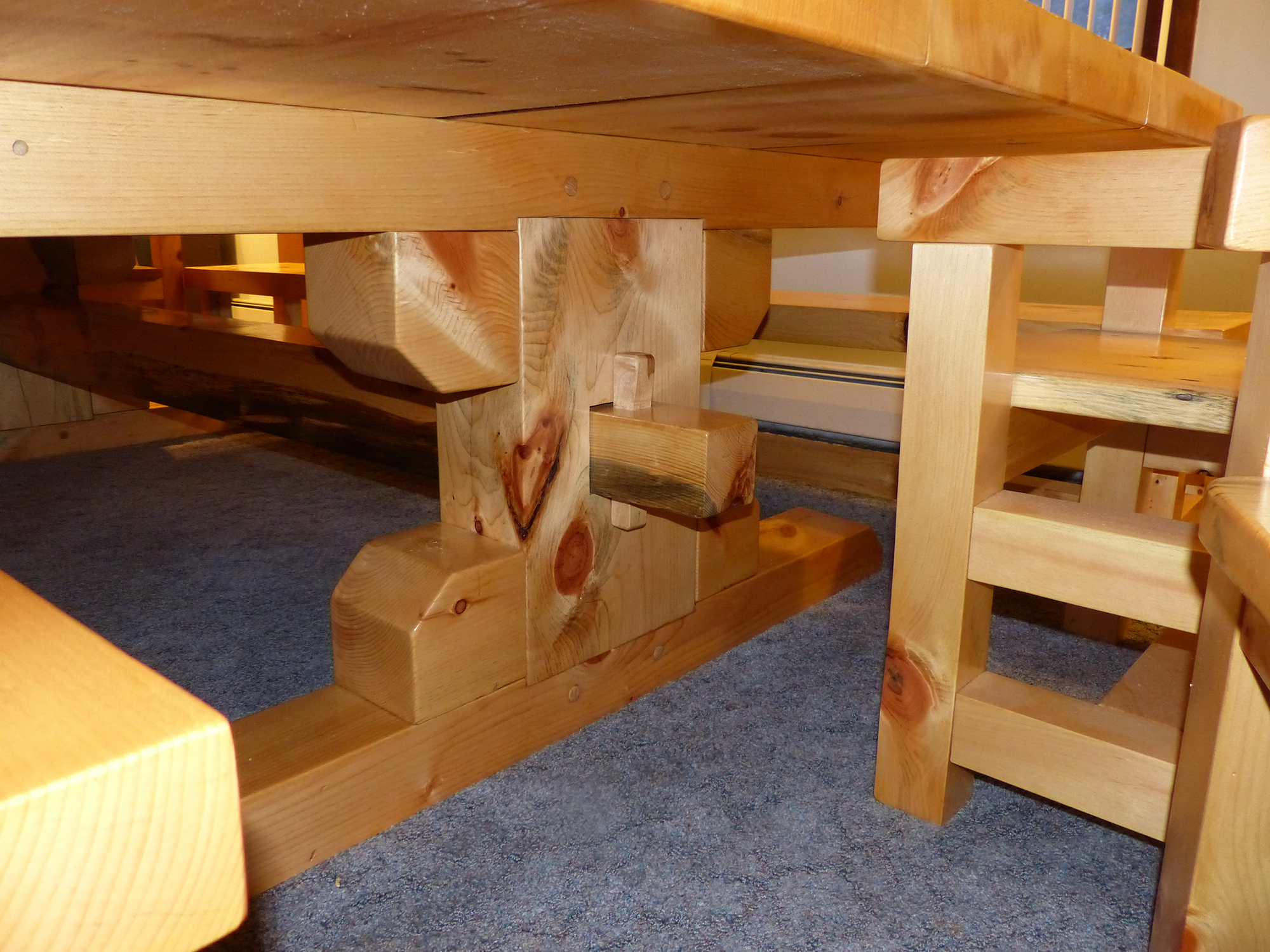 Timber Frame Table Legs | Metsami Creations